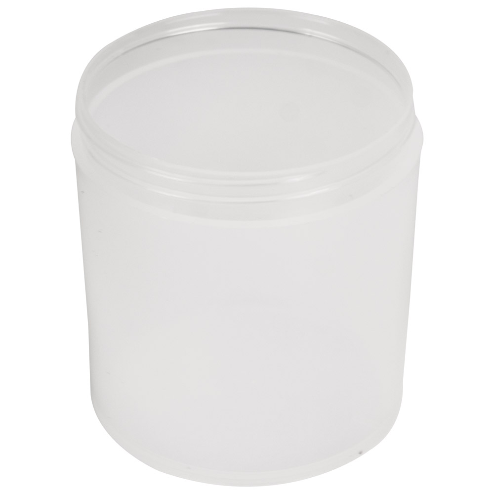 16 oz. Polypropylene Straight Sided Thick Walled Natural Jar with 89/400 Neck (Cap Sold Separately)