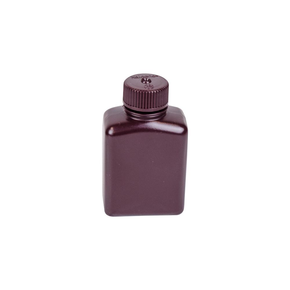 4 oz./125mL Nalgene™ Amber Rectangular Bottle