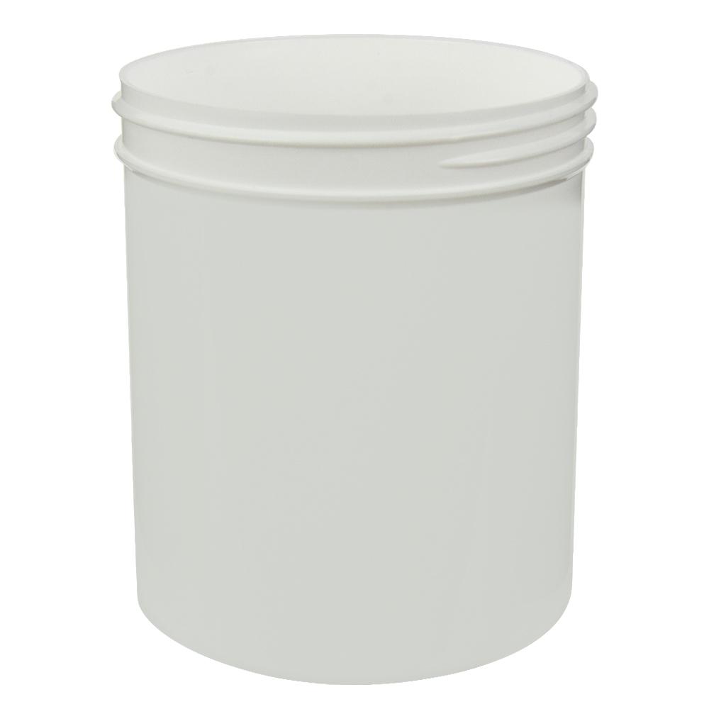 18 oz. White Polypropylene Straight Sided Jar with 89/400 Neck