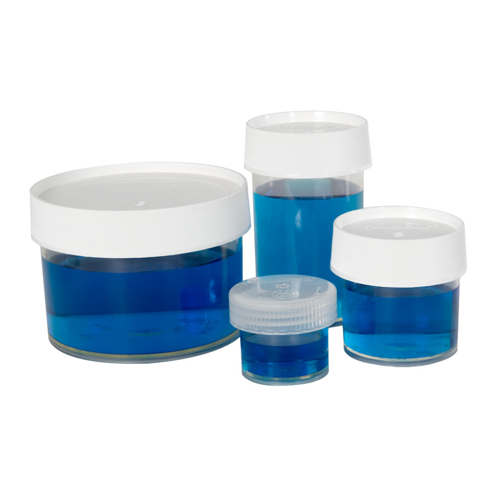 Thermo Scientific™ Nalgene™ Straight Sided Polymethylpentene Jars with Caps