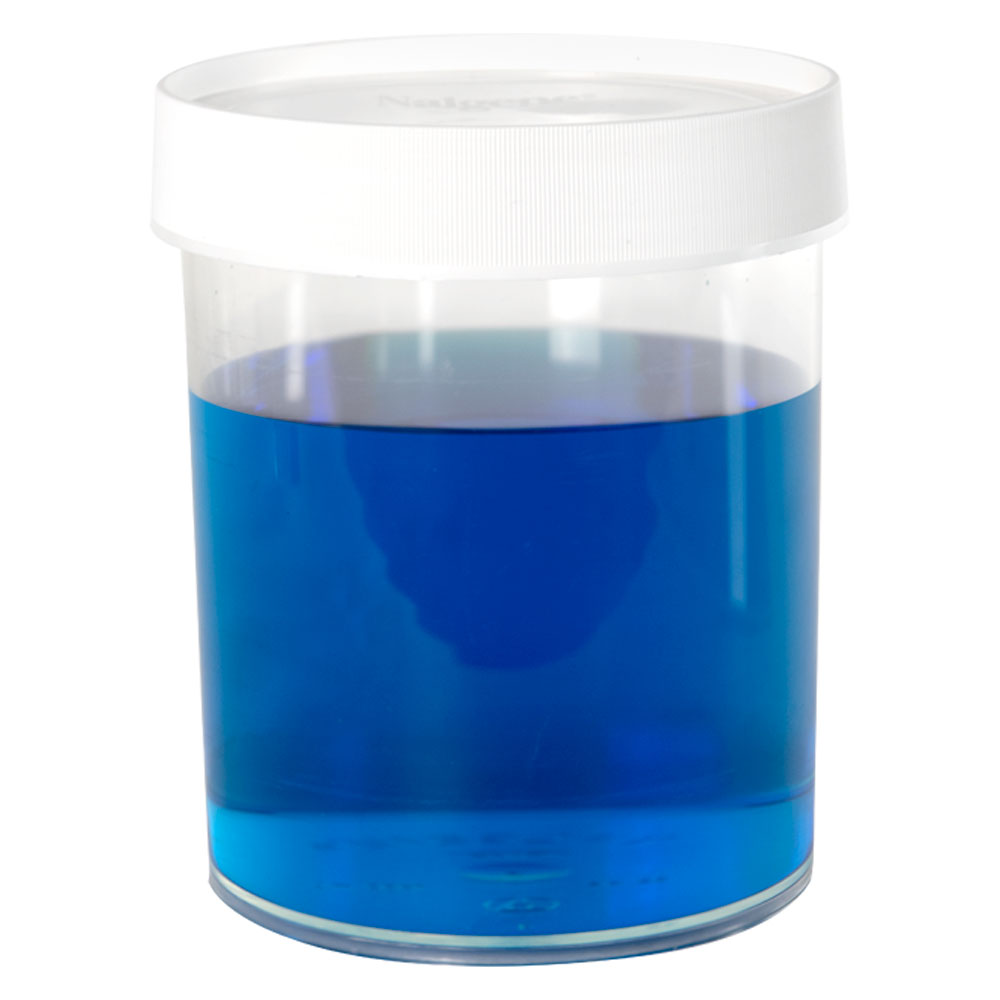 32 oz./1000mL Nalgene™ Straight Sided Polymethylpentene Jar with 120mm Cap