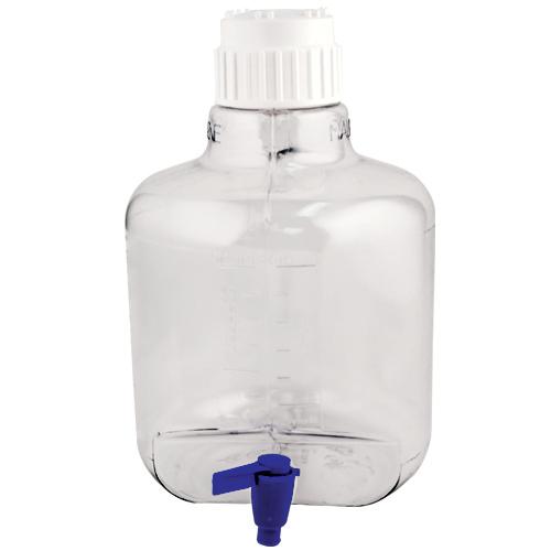 10 Liter/2-1/2 Gallon Round Nalgene™ Clearboy™ Container with Spigot