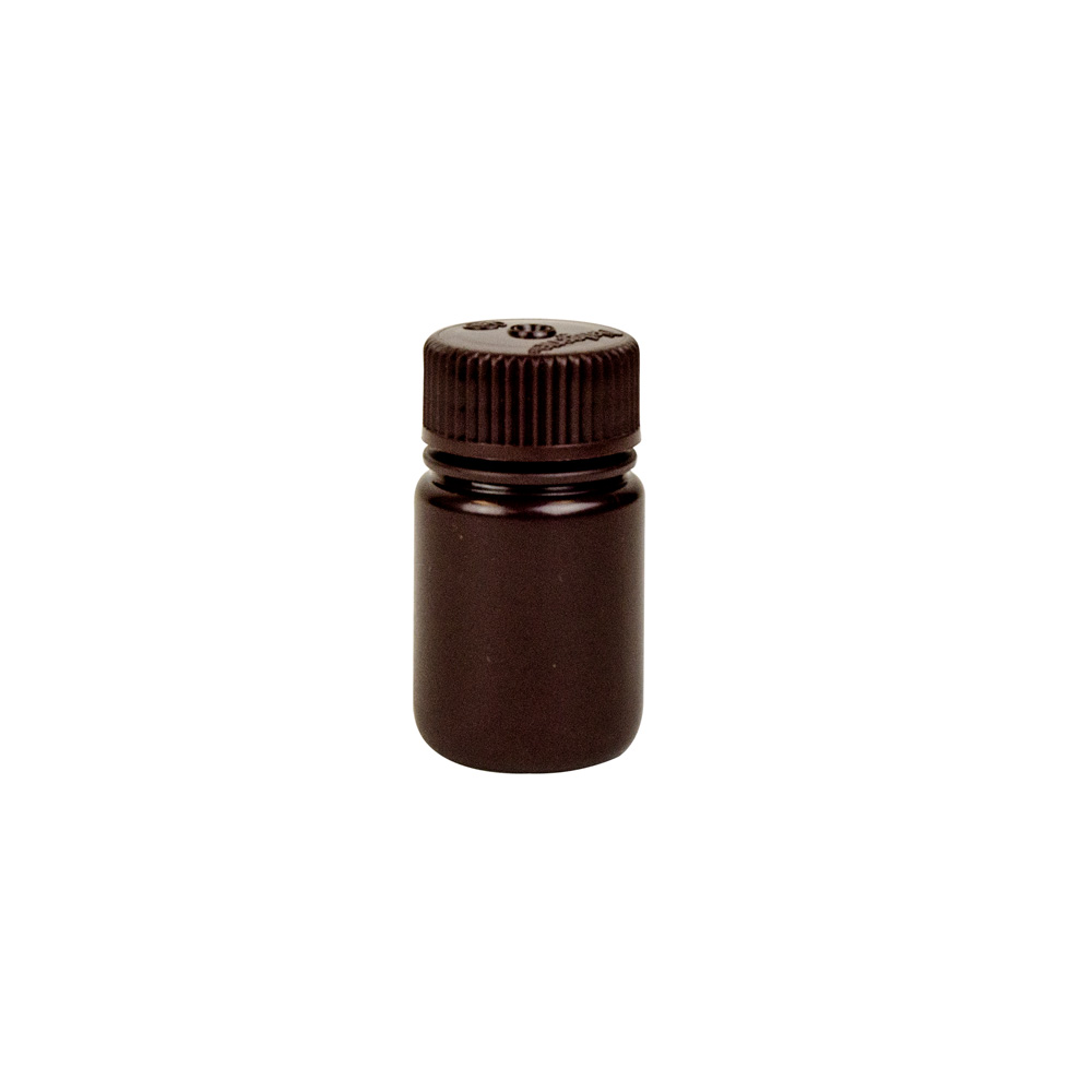 1 oz./30mL Nalgene™ Lab Quality Amber HDPE Wide Mouth Bottle with 28mm Cap