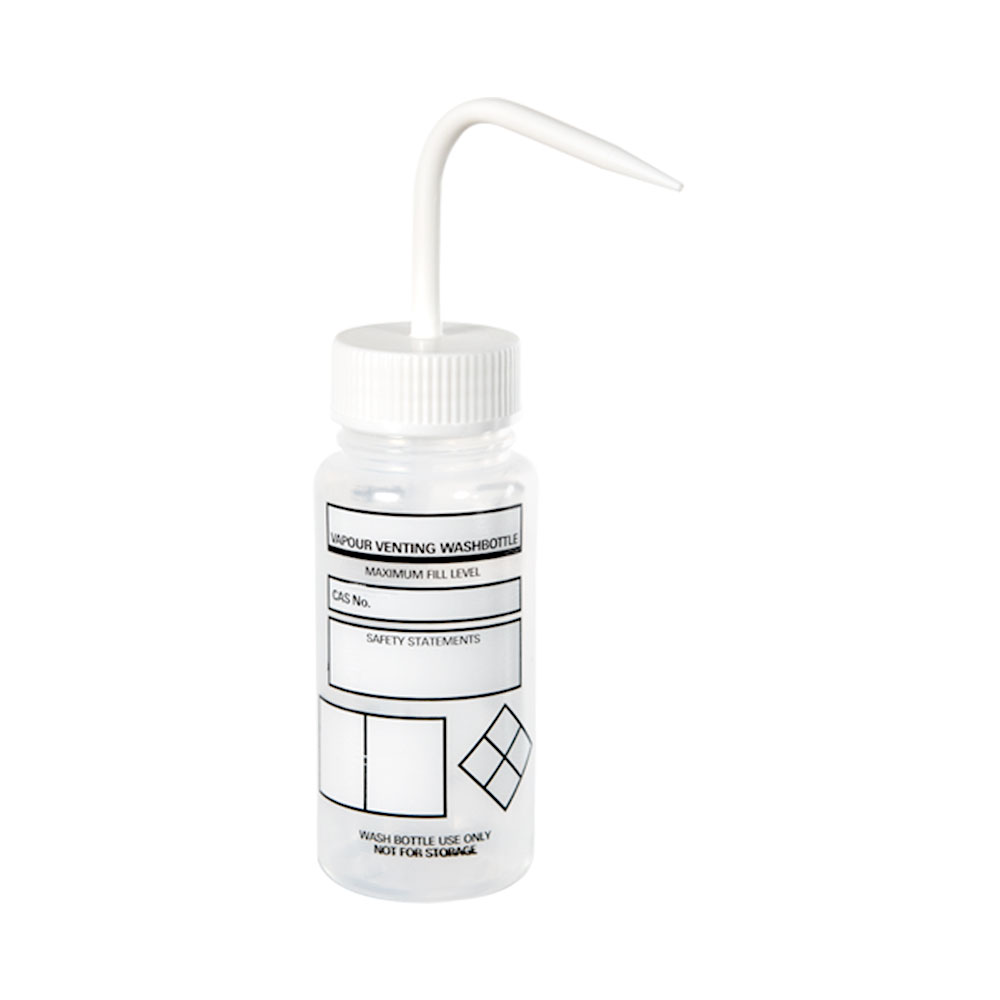 250mL Azlon® Driplok® Blank Venting Wash Bottle