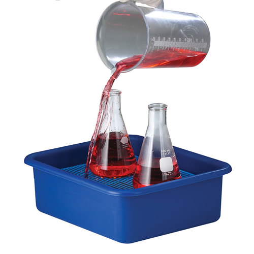 Polypropylene Spill Containment Tray with Grid