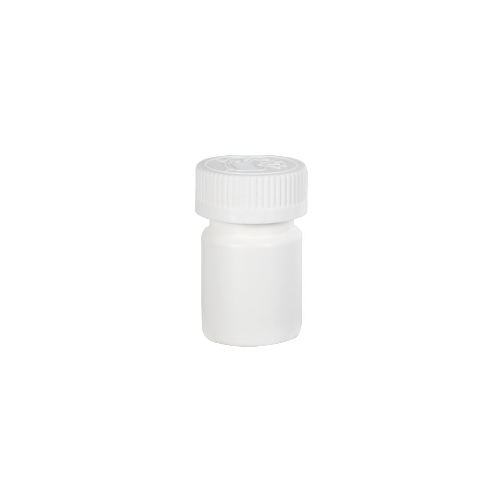 1 oz./30cc White Wide Mouth Packer with 33/400 CRC Cap