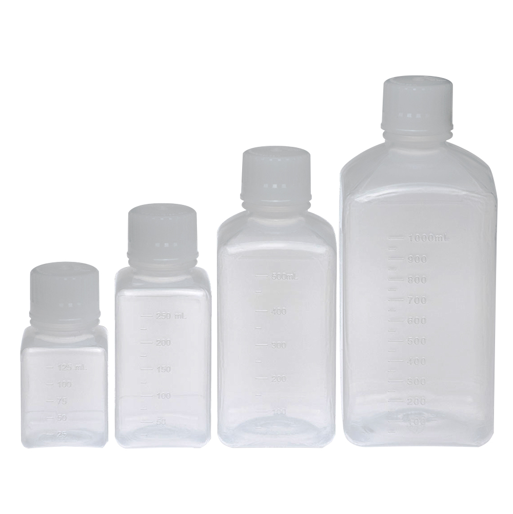 Aseptic Square Bottles with Caps