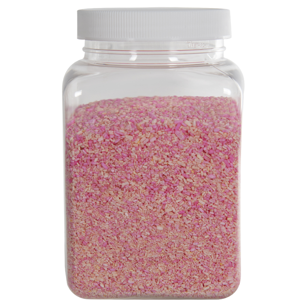 67 oz. Clear PET Square Jar with 110mm Cap