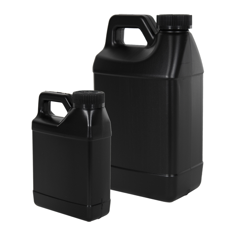 Black F-Style Jugs with CRC Caps