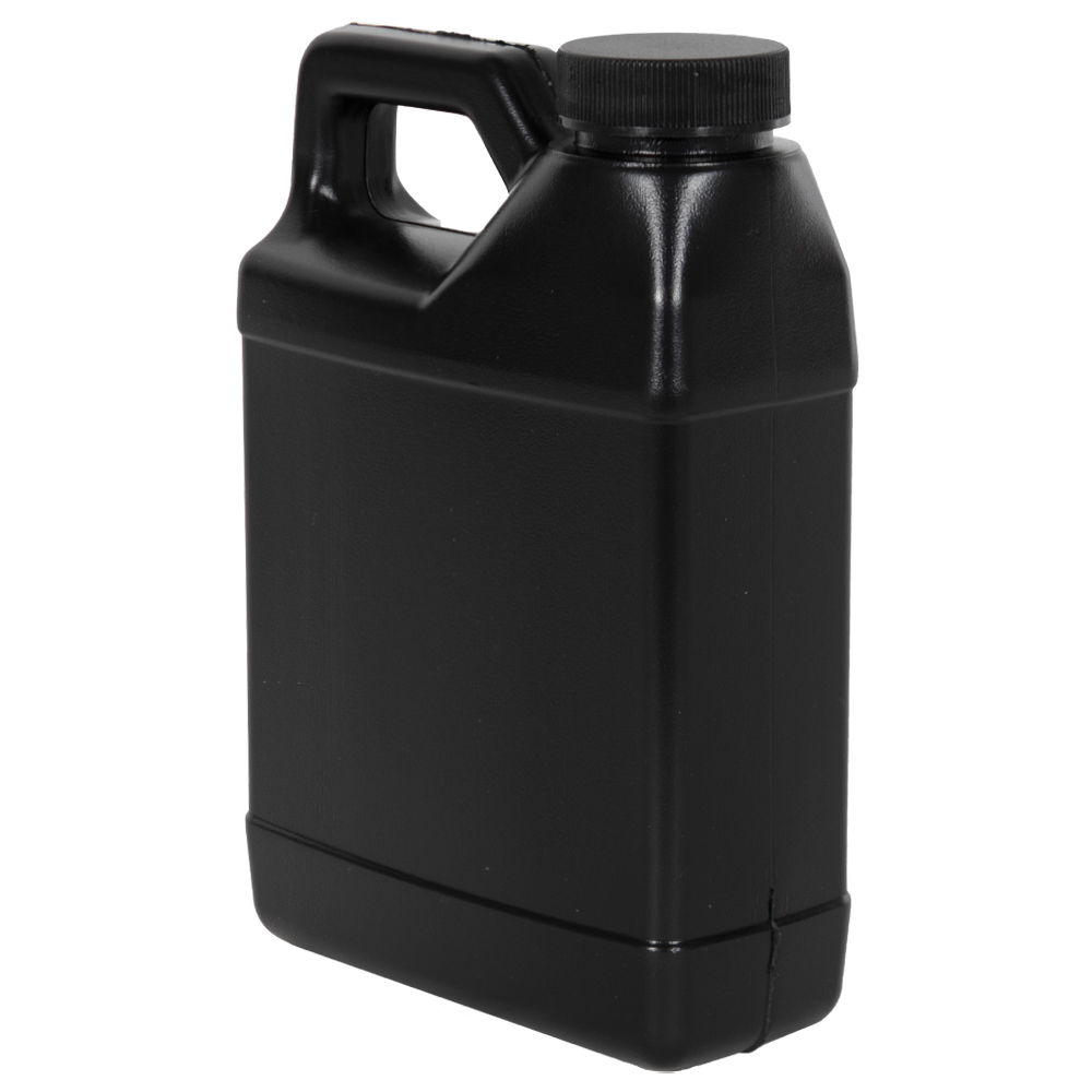 16 oz. Black F-Style Jug with 33/400 Plain Cap