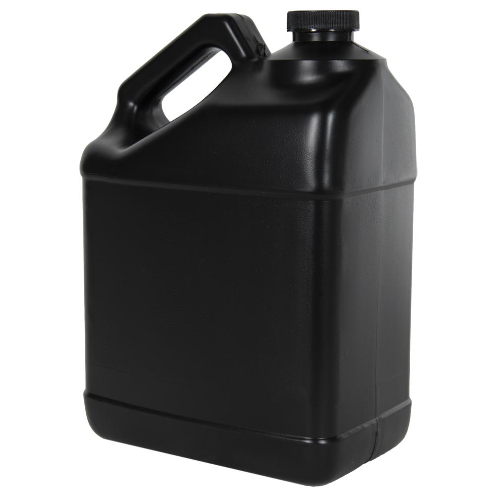 128 oz. Black F-Style Jug with 38/400 Plain Cap