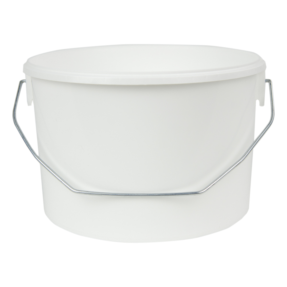 142 oz. White Flex Off Container with Metal Handle (Lid Sold Separately)