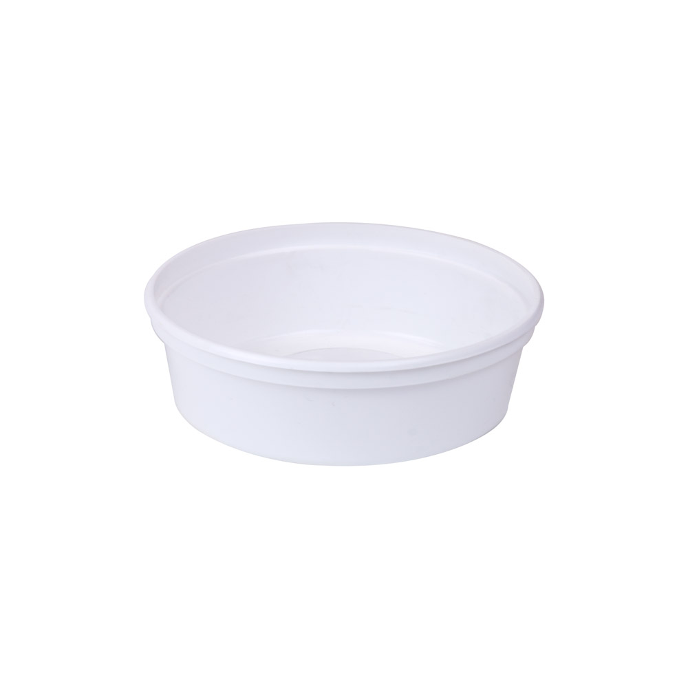 8 oz. White Polypropylene Container (Lid Sold Separately)