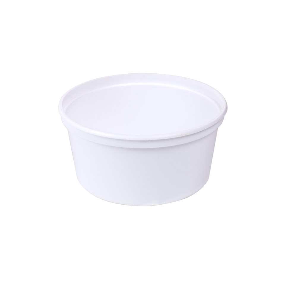 12 oz. White Polypropylene Container (Lid Sold Separately)