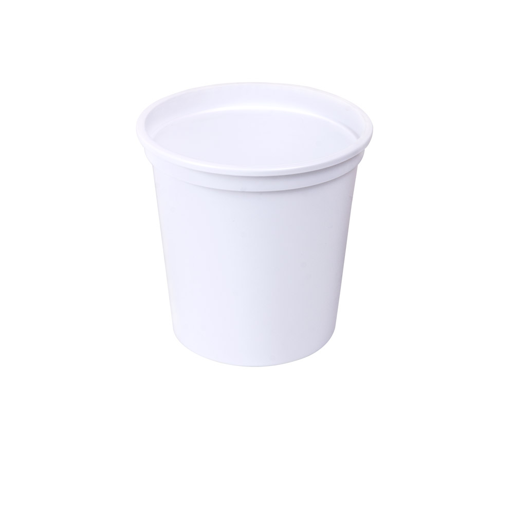 16 oz. White Polypropylene Container (Lid Sold Separately)