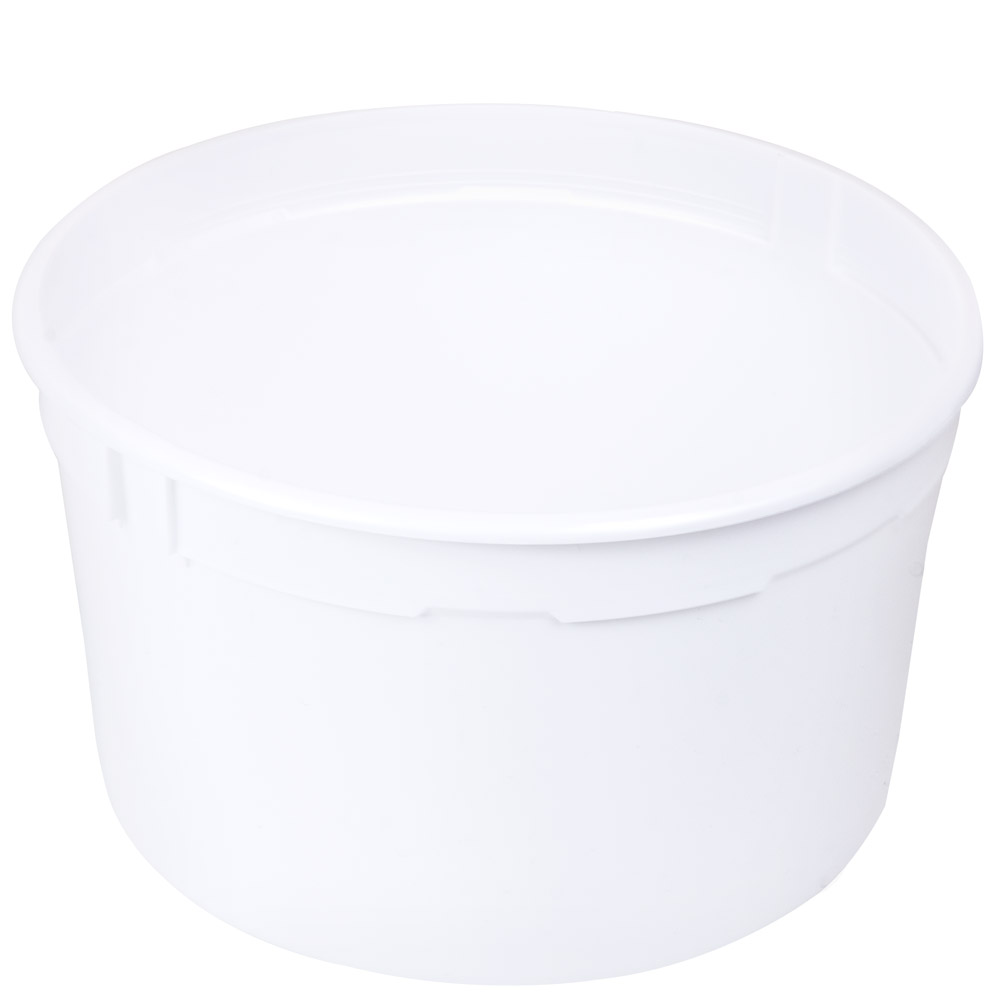4 qt. White Polyethylene Container (Lid Sold Separately)