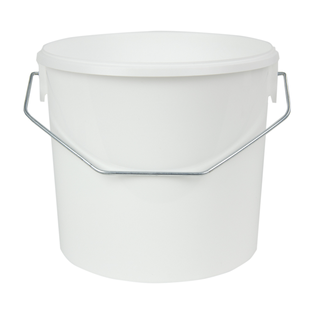 125 oz. White Flex Off Container with Metal Handle (Lid Sold Separately)
