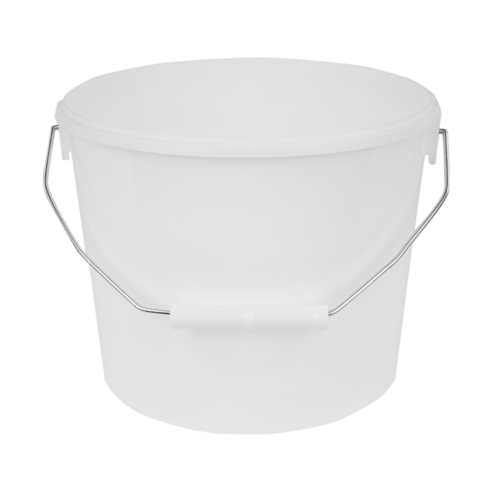 169 oz. White Flex Off Container with Metal Handle (Lid Sold Separately)