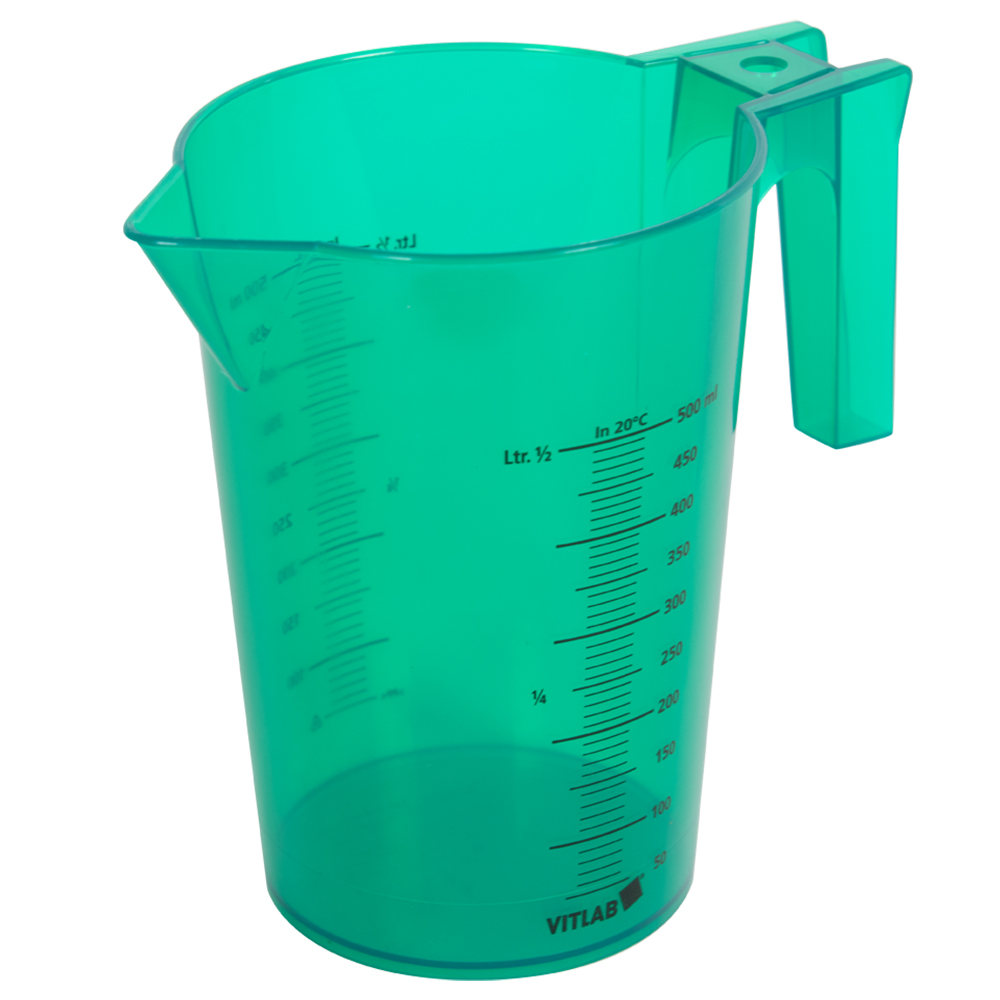 500mL Green Polypropylene Graduated Stackable Pitcher