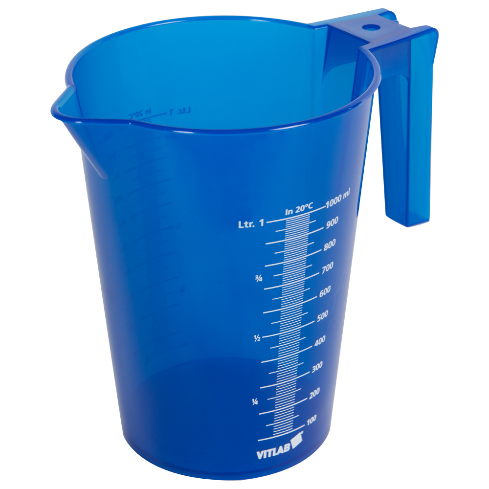 1000mL Blue Polypropylene Graduated Stackable Pitcher