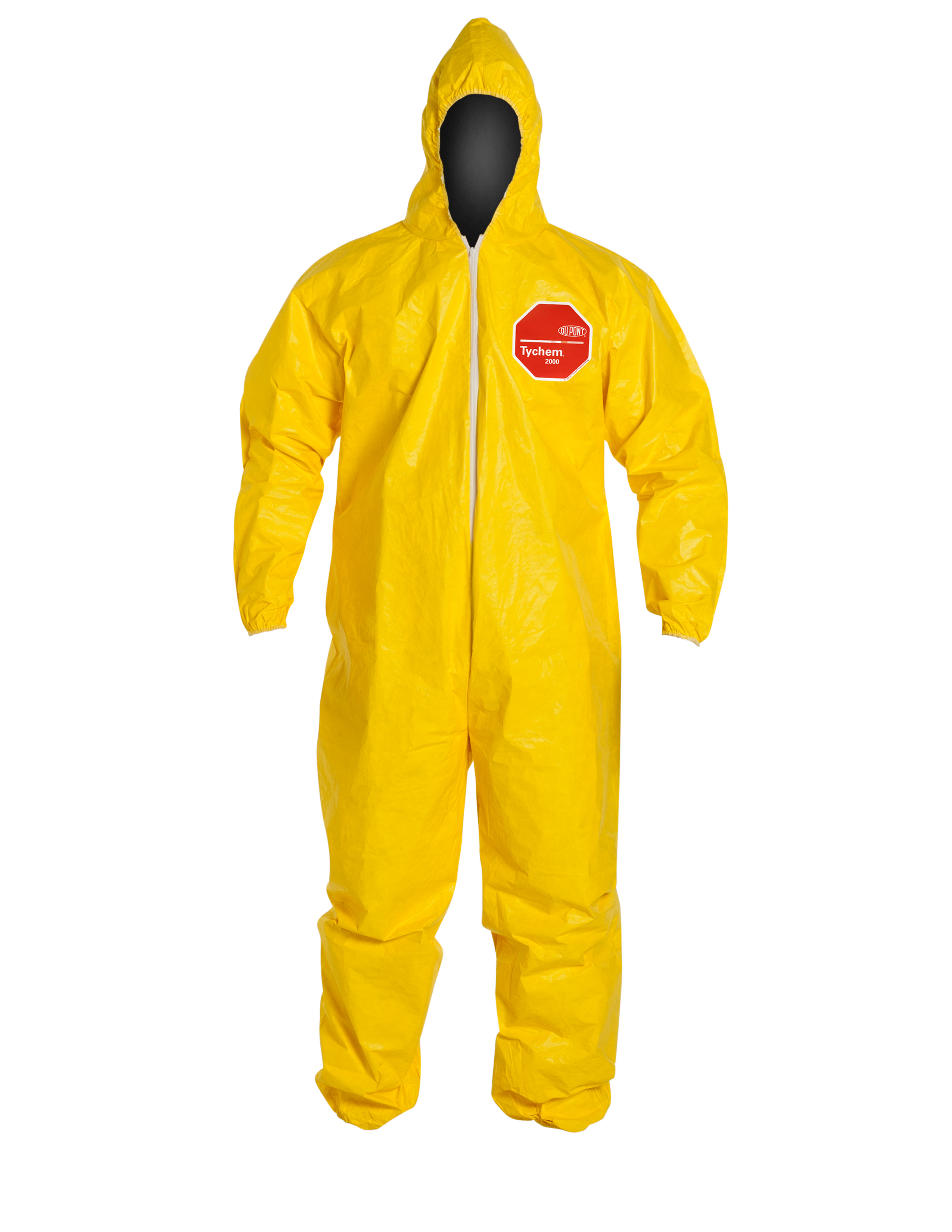 DuPont™ Tychem® 2000 Coveralls with Attached Hood & Elastic Face, Wrists & Ankles