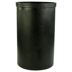 "55 Gallon Black Heavy Weight Tank - 22"" Dia. x 36"" High (Cover Sold Separately)"