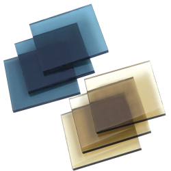 ".354"" (9.5mm) x 12"" x 12"" Bronze Lexan™ 9034 Polycarbonate Sheet"