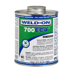 Pint Clear Regular Body IPS ® Weld On ® 700 ECO™ Ultra Low VOC