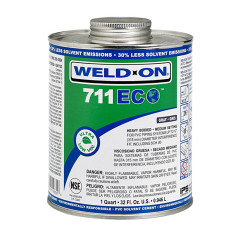 Pint Gray Heavy Body IPS ® Weld On ® 711 ECO™ Ultra Low VOC