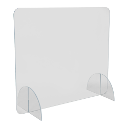 "28"" L x 24"" H Tamco® Clear Acrylic Desktop Divider"