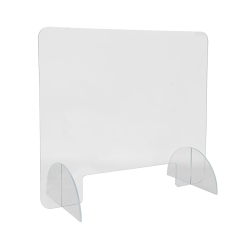"28"" L x 24"" Hgt. Tamco® Clear Acrylic Desktop Divider with Pass Through Slot"