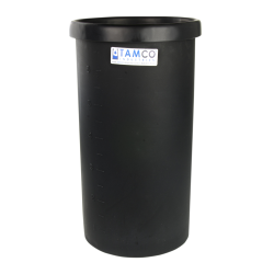 "15 Gallon Black Polyethylene Tank - 15"" Dia. x 23"" High"