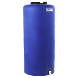 "40 Gallon Tamco® Vertical Blue PE Tank with 8"" Lid & 3/4"" Fitting - 19"" Dia. x 41"" High"