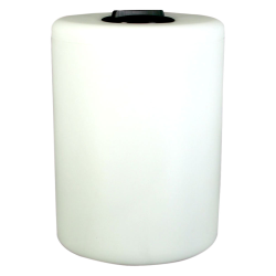 "55 Gallon Tamco® Vertical Natural PE Tank with 8"" Lid & 1"" Fitting - 24"" Dia. x 33"" High"