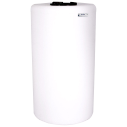 """75 Gallon Tamco® Vertical Natural PE Tank with 8"""" Lid & 2"""" Fitting - 24"""" Dia. x 44"""" High"""