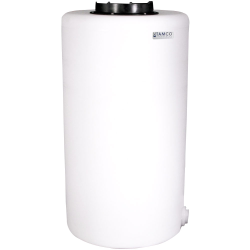"75 Gallon Tamco® Vertical Natural PE Tank with 12-1/2"" Lid & 2"" Fitting - 24"" Dia. x 45"" High"