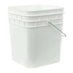3-1/2 Gallon HDPE Square Buckets