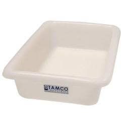 """12-1/8"""" L x 8-1/4"""" W x 3"""" H Natural Polyethylene Tamco® Tote Pan"""