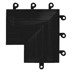 "9"" x  9"" x 6"" Black ErgoDeck Inside Corner"