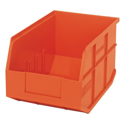 "12"" L x 8-1/4"" W x 7"" Hgt. Quantum® Orange  Stackable Shelf Bin"