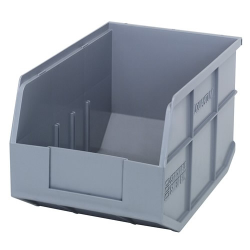 "12"" L x 8-1/4"" W x 7"" Hgt. Quantum® Gray  Stackable Shelf Bin"