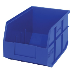 "12"" L x 8-1/4"" W x 7"" Hgt. Quantum® Blue  Stackable Shelf Bin"