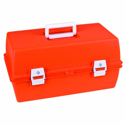 First Aid Case with 9 Compartments - 15-5/8