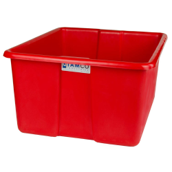 "24"" L x 20"" W x 12"" H Red Polyethylene Tamco® Jumbo Tote Pan"