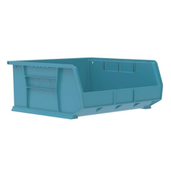 "14-3/4"" L x 16-1/2"" W x 7"" Hgt. OD Light Blue Storage Bin"