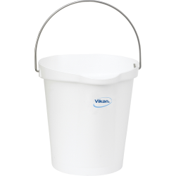 Vikan® Polypropylene White 3 Gallon Pail