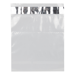 "6"" x 6"" x 2 mil Clear Tamper Evident Adhensive Bags"
