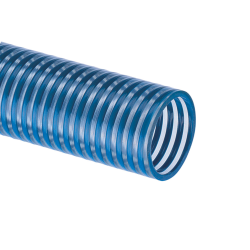 "5"" ID x 5.57"" OD Blue Water™ Low Temperature PVC Suction Hose"