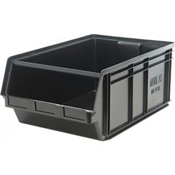 "Black Quantum® Magnum Recycled Heavy Duty Stack Bin - 29-3/4"" L x 18-3/8"" W x 11-7/8"" Hgt."