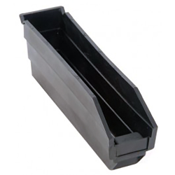 "Black Quantum® High Recycled Shelf Bin - 11-5/8"" L x 2-3/4"" W x 4"" Hgt."